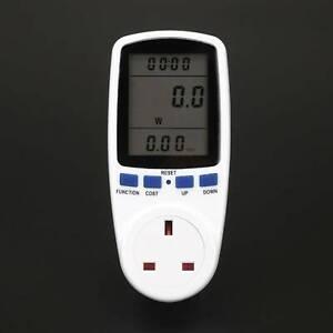 UK Plug Electricity Power Consumption Meter Watt Kwh Analyzer Energy Monitor