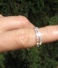 18 kt white gold micro diamond eternity midi or stackable ring NWT 3.5