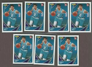 Lamelo Ball RC Rookie LOT of (7) 2021 Panini NBA Stickers and Card