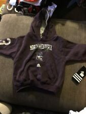 NEW Adidas Size 3T Northwestern Wildcats Hoodie Baby Infant Kid Purple Toddler