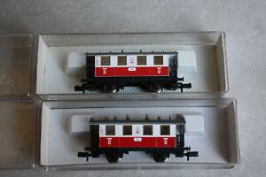 Fleischmann piccolo Wagenset 2x 8056 Abteilwagen TAL 2. Klasse Länderbahn OVP