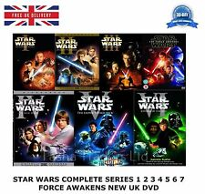 STAR WARS COMPLETE COLLECTION 1-7 SERIES 1 2 3 4 5 6 7 FORCE AWAKENS NEW UK DVD