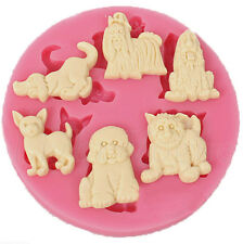 Dog DIY Silicone Fondant Mold Cake Decorating Chocolate Baking Mould 0077