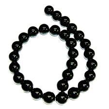 ONIX Negro, bolas de 14 mm. HILO de 40 cm, 28-29 piezas esféricas preciosas.