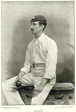 SURREY CRICKET. SHARPE- Fast swing bowler SHEFFIELD'S 11 Australia 1896 print