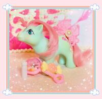 ❤️My Little Pony MLP G1 Vtg 1985 Cuddles Baby Buggy Pony Pink Rattle Freckles❤️