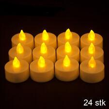 24x LED Teelichter Set elektrische warmweiß LED Kerzen Teelicht mit Batterie