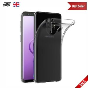 Clear Transparent Silicone Gel Rubber Case Cover For Samsung Galaxy S9 Plus UK