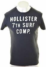 HOLLISTER Mens Graphic T-Shirt Top Medium Navy Blue Cotton  LW06