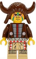 LEGO Western 2845 6718 Native Indian Medicine Man Buffalo Horned Headdress