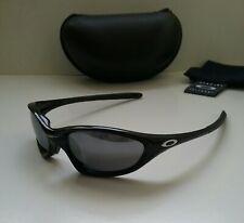 NEW OAKLEY XX TWENTY POLISHED BLACK / BLK Iridium Sunglasses splice plate minute