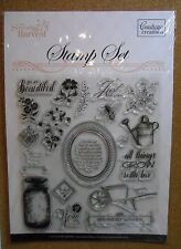 Clear Acrylic Sweet Harvest Card Making Stamp Set