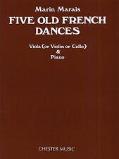 Marin Marais Five Old French Dances Learn to Play Cello Violin Viola Music Book