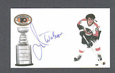 Jim Watson signed Philadelphia Flyers index card
