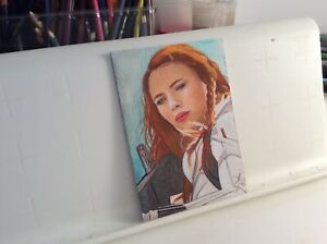 AVENGERS BLACK WIDOW 006 ORIGINAL HAND MADE DRAWING SKETCH CARD VERS° 2020 ACEO