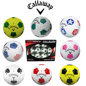 Callaway Truvis GOLF BALLS Recycled GRADE A  Various Styles/ Colours (One Dozen)