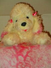 Animal Alley White Plush Poodle With A Happy Face From the Purebred Collection