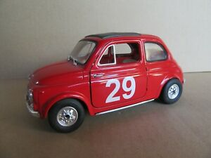 757 11/12ft Solido No 8044 France Fiat 500 29 Rally Mounted Carlo 1965 Red 1:
