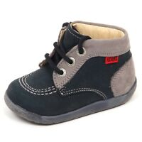 E2274 sneaker bimbo grey/blu KICKERS scarpe shoe kid baby boy
