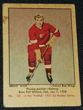 1951-1952 - PARKHURST - BENNY WOIT - DETROIT RED WINGS - ROOKIE HOCKEY CARD #58