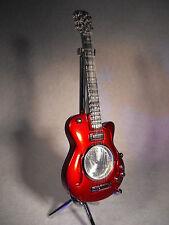 Guitariste cadeau guitare horloge cadeau/présent miniature horloge rouge LES PAUL guitare
