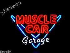 Rare 17X14 Handcrafted MUSCLE CAR GARAGE REAL GALSS NEON SIGN BEER BAR PUB LIGHT