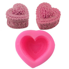 Heart rose LOVE 3d DIY Silicone handmade soap, cake mold