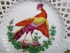 "MINTONS CHELSEA BIRD SET OF 4 HP PIERCED 9½"" PLATES DATED 1879 MINTON (Ref2703)"