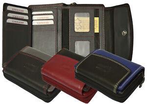 RFID Echt Leder Damenbörse Geldbörse Börse Portemonnaie Wallet RFID Blocker