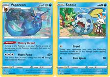 Vaporeon SWSH 072 + Sobble SWSH 073 Sword и щит рекламный Pokemon TCG-почти как новый +