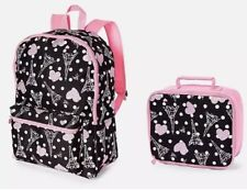 Nwt Justice Girls Paris Backpack & Lunch Tote Set 2