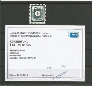 SBZ 43C Ziffern seltene Variante sauber ** FB Kunz BPP M€ 240 - 376-134