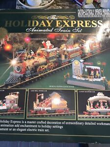 New Bright Holiday Express Animated Train Set No.387 IOB Tested Working Perfect