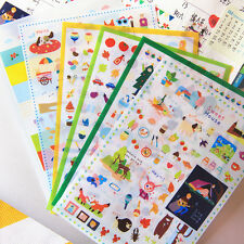7 sheet madeleine album calendar diary Planner Scrapbooking Decoration sticker