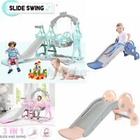 Durable Kids Baby Cradle Play Slide Climber Swing Basketball Playground Playset