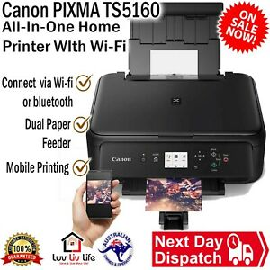 Canon PIXMA TS5160 All-In-One Wireless Printer Duplex AirPrint with Ink Starter