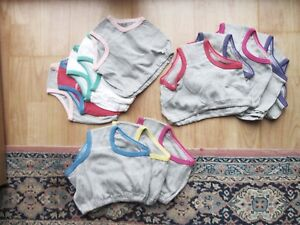 Kinder Mädchen 5 < 6 Slips Schlüpfer 122/128  rot weiß grau Baumwolle