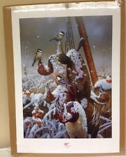 """Jerry Gadamus """"Chick-A-Dee-Coy"""" Signed Numbered Print Ducks Unlimited"""