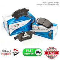 FRONT ALLIED NIPPON BRAKE PADS FOR NISSAN PRIMERA BREAK 1.6 2.0 TD 1.8 1996-01