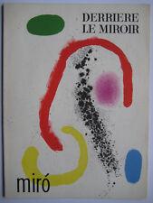 MIRO JOAN LITHOGRAPHIE ORIGINALE DLM 1961 DERRIÈRE LE MIROIR N°125-26 LITHOGRAPH