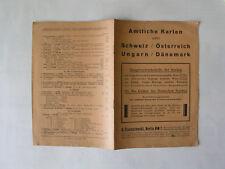 Amtliche Karten von Schweiz Österreich Ungarn Dänemark 1937 16S. 23cm Broschüre