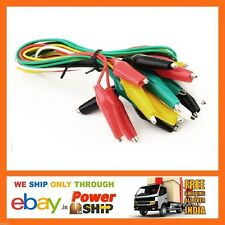E64 Double-ended Crocodile Clips Cables Alligator Jumpers Probe Leads Wires 5pcs