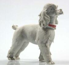 Caniche poodle figurine figura porcelana figura perro bisquitporzellan porcelana