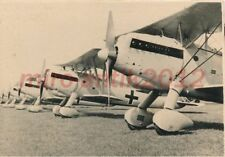 Foto, 1.Komp.Pion.Batl.6, Minden, mehrere Heinkel HE 49 in Reihe; 5026-239