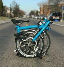 Brompton H3L-X Superlight Lagoon Blue & Titanium Ex-Demo Bike w/ Dynamo Lighting