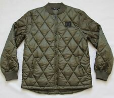 DC SHOES SKATEBOARD MENS RIPSTOP QUILTED BOMBER SNOWBOARD SKATE ARMY JACKET L