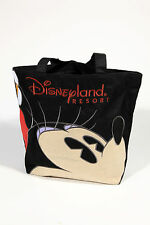 Vtg Disney Resort Minnie Mouse Artistic Zippered Tote Purse Beach Bag Black Red