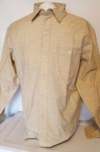 NEW Bob Timberlake Men's Long Sleeve Woven Slub Shirt for Men Size Medium
