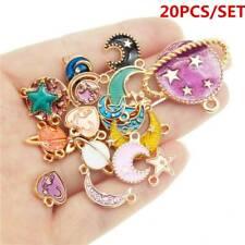 24pcs Planet Tibet silver Charms Bracelets Jewellery Making crafts 20×13mm