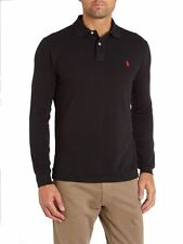 Polo Ralph Lauren Custom Fit Long Sleeve Polo Shirt BLACK